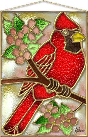 Stained Glass Cardinal Pattern